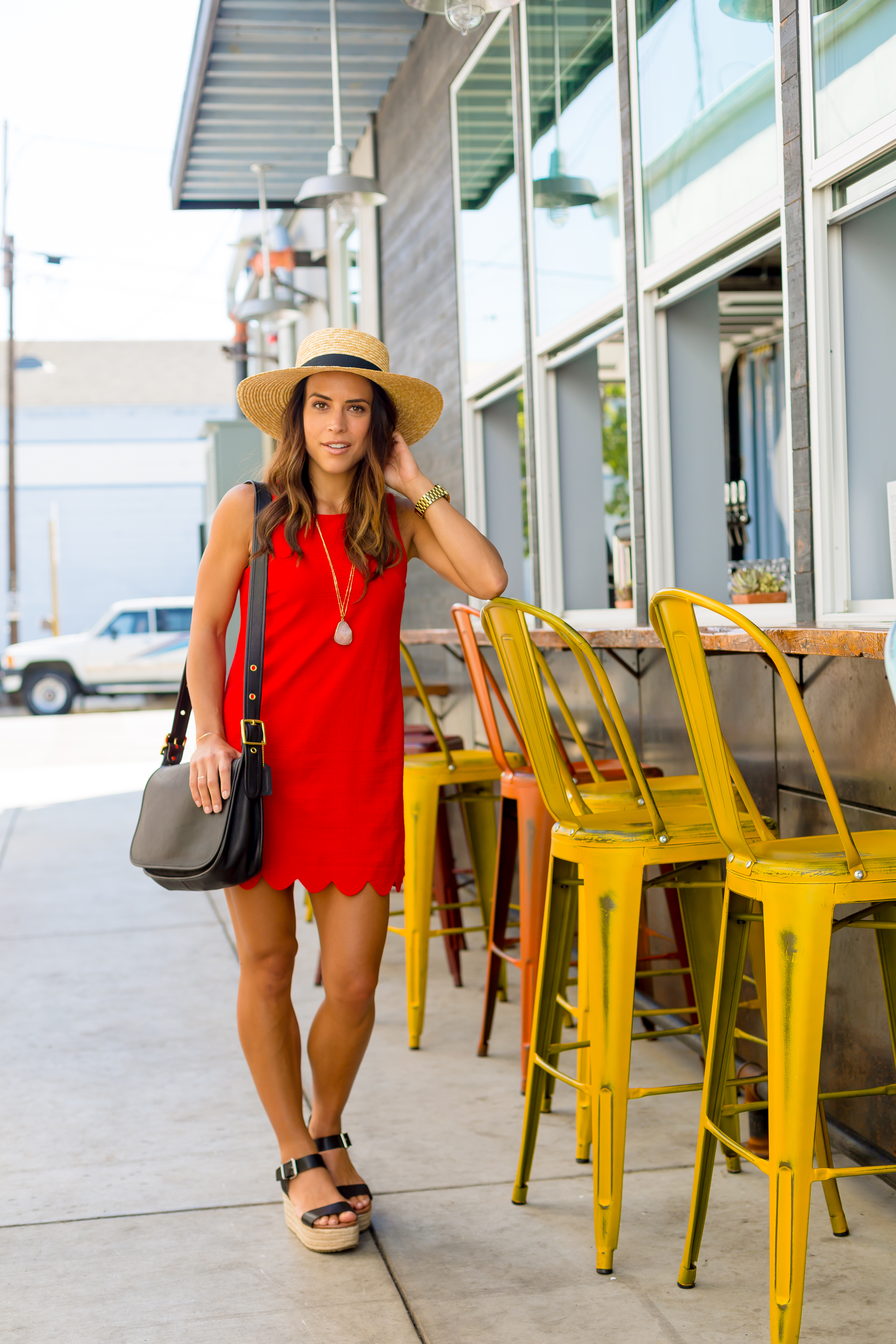 Red Scallop Dress - The Middle of Here